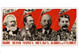 HSE Propaganda Vintage Poster 1936 Marx Engels Lenin
