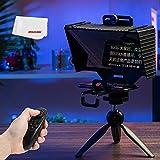 AMBITFUL Teleprompter T3 para iPad Mini de 12 pulgadas (12 pulgadas, lector de prompting para cámara DSLR móvil, grabación en directo, teleprompter con mini trípod)
