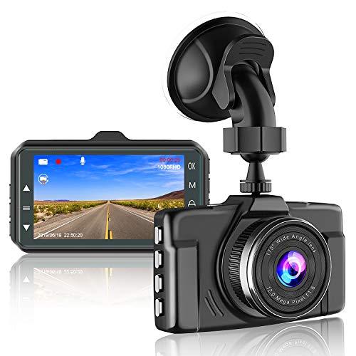 【2021 Nouvelle Version】CHORTAU Caméra Embarquée Voiture 1080P 3 Pouces Caméra de Voiture Grand Angle de 170°,Dashcam Voiture Avec Mode de Stationnement,Détection de Mouvement,Enregistrement en Boucle
