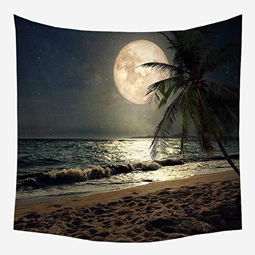 QNMSTJ Tapestry, tropisch regenwoud, grote plant, kunst aan de muur, huisdecoratie, strandhanddoek, yogamat, voor slaapkamer, thuis, woonkamer 130×150cm