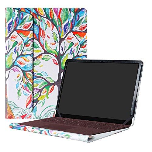 Alapmk Specialmente Progettato PU Custodia Protettiva per 13.5' Microsoft Surface Laptop & Surface Laptop 2 2018 & Surface Laptop 3 2019(Not Fit Surface Laptop 3 15 inch & Surface Book),Love Tree