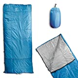 Outdoor Vitals OV-Roost 40°F UnderQuilt/Sleeping Bag, Use As Ultralight UnderQuilt, Sleeping Bag, or Double Bag (40°F/Blue, Regular)