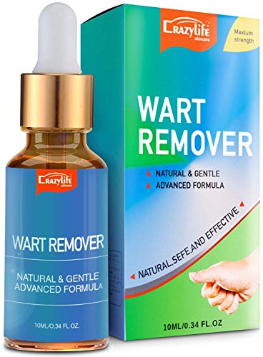 Wart Remover Liquid Rapidly Eliminates All Kinds of Plantar and Common Warts, Papillomas, Skin Tags with no Harm and Irritation | Advanced Natural Formula | Effective Painless Wart Removal Treatment