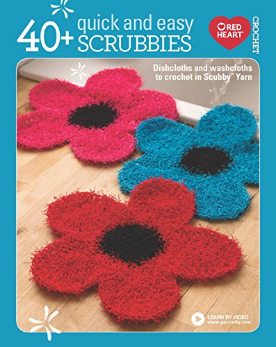40+ Quick and Easy Scrubbies: Dishcloths and Washcloths to Crochet in Scrubby Yarn-Complete Free Video Tutorials Available Online