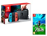 Nintendo Switch console Rouge/Bleu Néon 32Go + The Legend of Zelda: Breath of the...