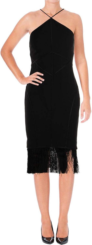 Cinq a Sept Womens Bryn Silk Fringe Party Dress