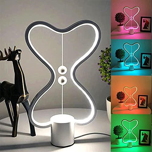 Lámpara de escritorio magnética, iluminación de siete colores, luz de noche LED magnética inteligente, interruptor flotante en el aire, lámpara de mesa de diseño para dormitorio, sala de estar