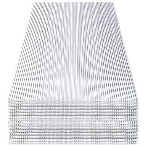 wolketon 14x Polycarbonat Hohlkammerstegplatten (60.5 x 121cm) 4mm | 10,25 m² Doppelstegplatte für Gewächshaus, Garten Treibhaus Ersatzplatten