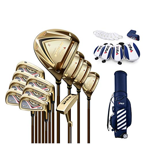 Check Out This LHHlucky 12 Piece Men's Complete Golf Club Complete Set with Bag Graphite/Steel Set I...