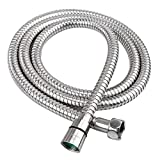 HOMEIDEAS 118-Inch(3m) Shower Hose 304 Stainless Steel Extra Long Shower Hose Replacement Handheld Shower Head Hose Extension