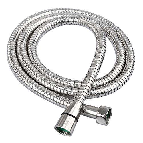 HOMEIDEAS 60-inch(1.5m) RV Shower Hose 304 Stainless Steel Extra Long Shower Hose Replacement Handheld Shower Head Hose Extension