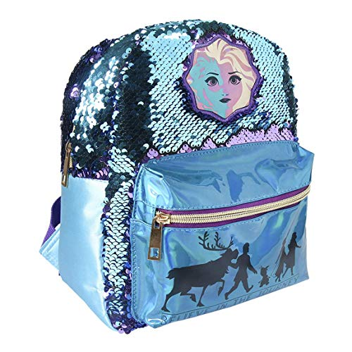 Disney | Frozen 2 | Exklusiver Premium Mädchen Rucksack | Reversible Pailletten Holographische 3D-Design | Mädchen Handtasche Kinder! |