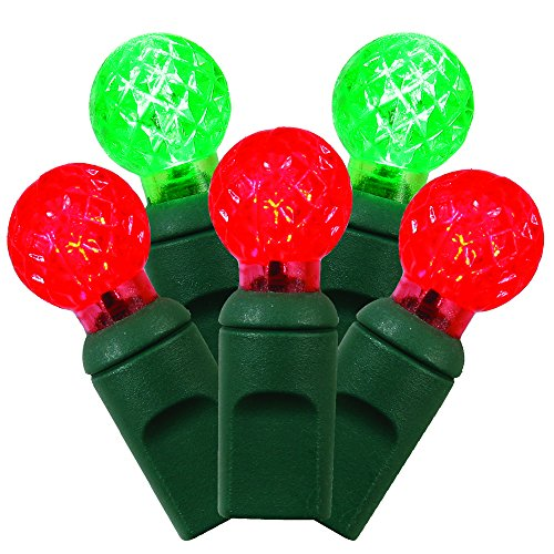 vickerman 31703 50 light 25 green wire red green g12 berry led christmas light string set with 6 spacing x6g9523 features and description