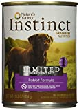 Nature'S Variety Instinct Limited Ingredient Diet Grain Free Rabbit Formula Natural Wet Canned Dog Food By, 13.2 Oz. Cans (Case Of 12)