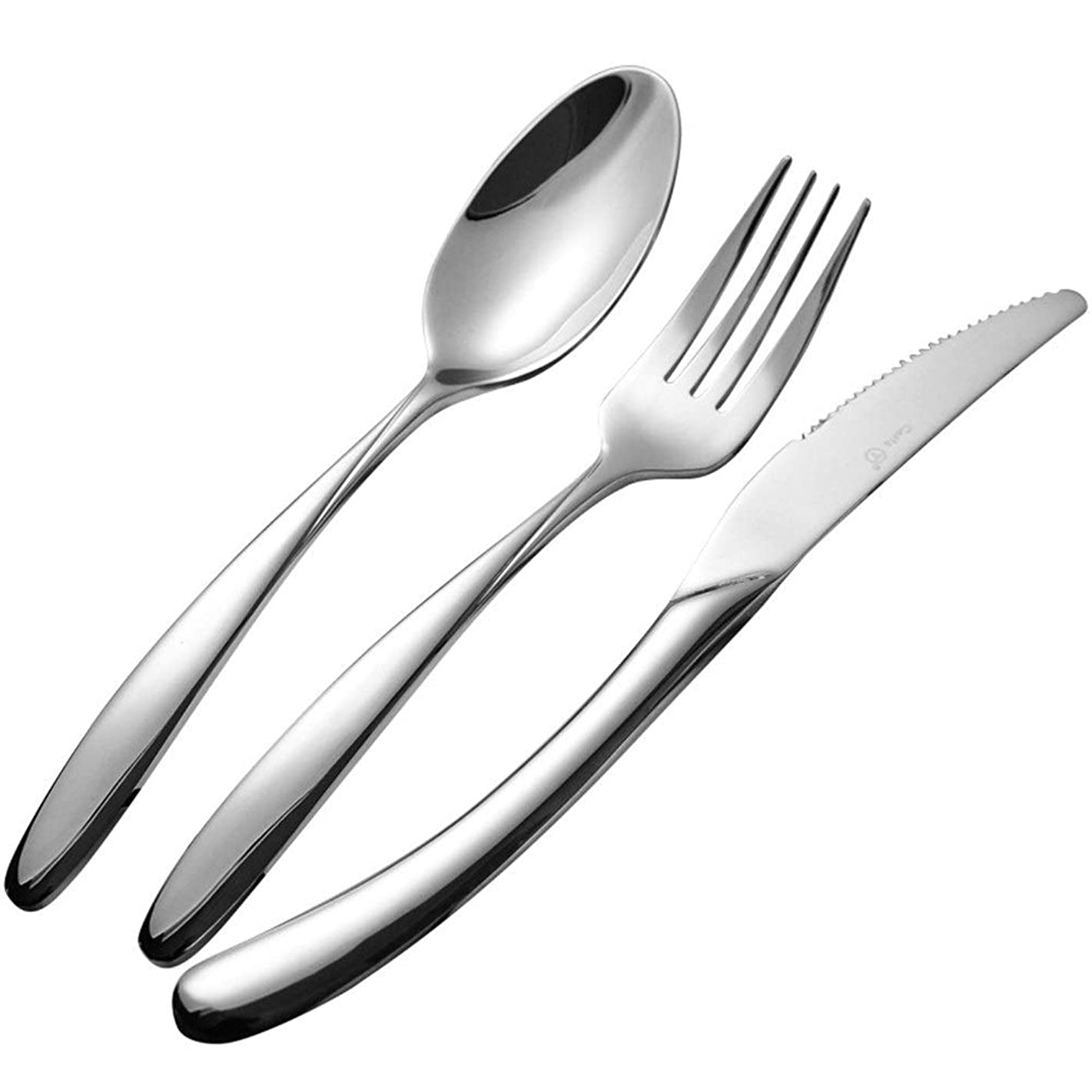 Pro-BikeUS Stainless Steel Knife And Fork Western Tableware High-grade Thickening Hotel Steak Knife And Fork Spoon (Color : ONE SET)