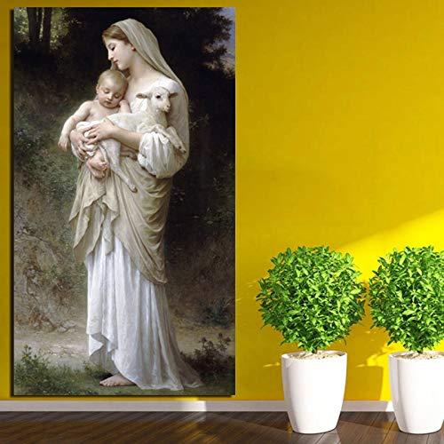 KWzEQ Tapete Leinwand Kunstdruck Wandbild für Wohnzimmer Wohnkultur Ölgemälde Moderne Wandkunst,Rahmenlose Malerei,50x90cm