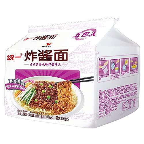 统一方便面 老北京 炸酱面 五連包袋麺乾和麺 干拌面100g*5