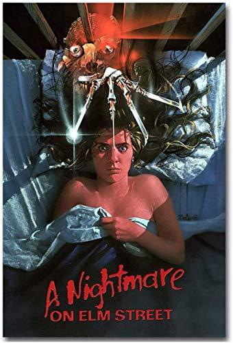Impresión de lienzo 60x80cm sin marco Pesadilla en Elm Street película de terror pintura de arte de pared para sala de estar decoración del hogar regalo