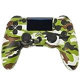 Wireless Playstation 4 Controller für Playstation 4/ Slim/ Pro/ PC/ Laptop mit Headsetanschluss, Vibrationsmotoren, LED-Anzeige & Anti-Rutsch-Griffen