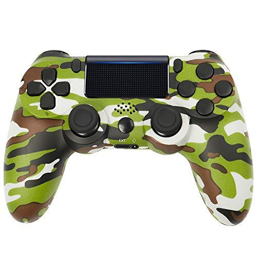Wireless PS4 Controller für Playstation 4/ Slim/ Pro/ PC/ Laptop mit Headsetanschluss, Vibrationsmotoren, LED-Anzeige & Anti-Rutsch-Griffen