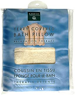 Earth Therapeutics Relaxation Therapy Bath Pillow, Terry Covered, Natural, 1 pillow (Pack of 3)