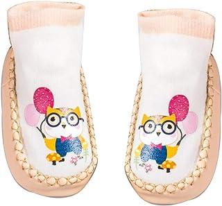 TrifyCore, Aislado calcetines infantil del bebé del niño de dibujos animados Animal calcetines anti de la resbalón antideslizante calcetines del piso calcetines lindos (14 cm L búho)