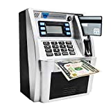 LB ATM Savings Bank Electronic Mini ATM Piggy Bank Cash Coin Educational ATM for Children Boys Birthday Gift