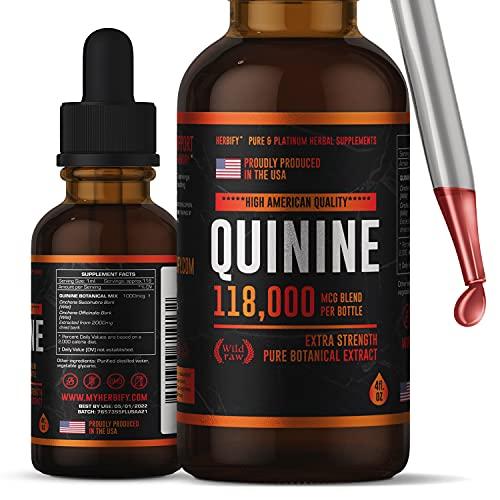 Premium Quinine Tincture & Cinchona Drops - US Made Product - Healthy Digestive - Liquid Quinine Cinchona Supplement for Best Absorption - for Men & Women 4oz (120ml)