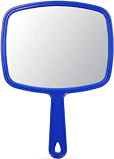 Handheld Mirror with Handle, Square Hand Mirror for Makeup Shaving Compact Cosmetic Vanity Mirror for Travel Camping Mirro...