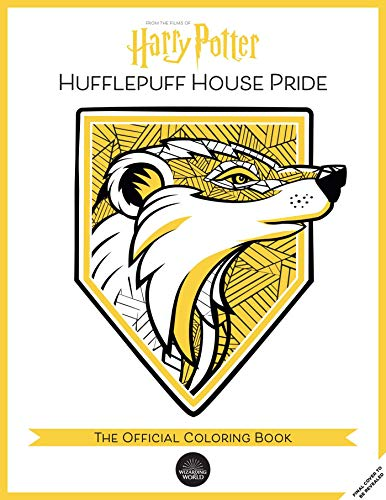 Harry Potter: Hufflepuff House Pride: The Official Coloring Book: (Gifts Books for Harry Potter Fans, Adult Coloring Books)