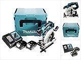 Makita DSS 611 RTJ Akku Handkreissäge 18V 165mm im Makpac + 2x 5,0Ah Akku + Ladegerät