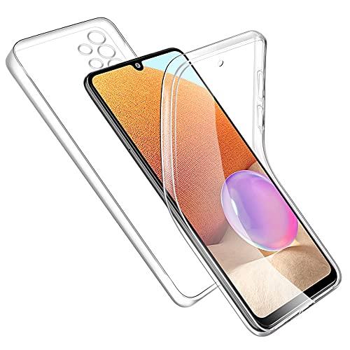 RosyHeart Cover Compatibile con Samsung Galaxy A32 4G, Transparent Custodia Silicone TPU e PC 360° Protezione Completa Compatibile con Samsung A32, Ultra Sottile AntiGraffio Antiurto Protettiva Case