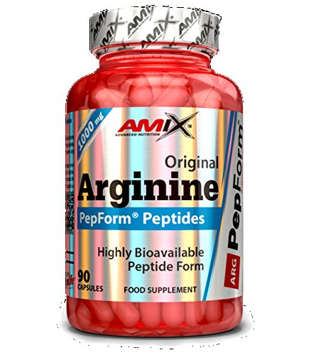 AMIX - Suplemento Deportivo - Arginina Pepform en Cápsulas 90 - Favorece la Recuperación Muscular - Péptidos de Argininade Rápida Absorción - Aminoácidos Esenciales