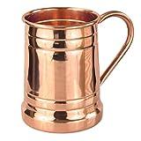 PURE COPPER BEER MUG – Unique Tankard Look - Handmade 100% Pure Copper Beer Stein - Solid...