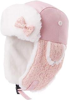 PLL 秋冬甘いピンクハット女性スキーキャップ厚手の暖かい耳あてファッションエアキャップ