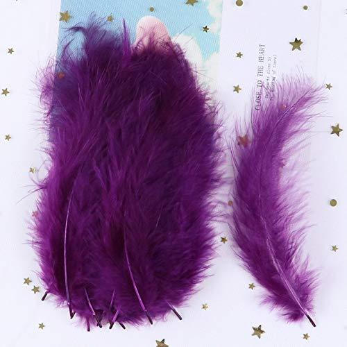 AILIFE 100 unidades por bolsa de plumas de pavo 4-6 pulgadas ciruelas DIY joyería accesorios decorativos decoración Plume Crafts