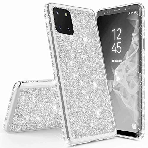 Miagon für Samsung Galaxy Note 10 Lite Glitzer Hülle,Bling Überzug Glänzend Strass Diamant Weich TPU Silikon Handy Hülle Etui Tasche Schutzhülle Case Cover