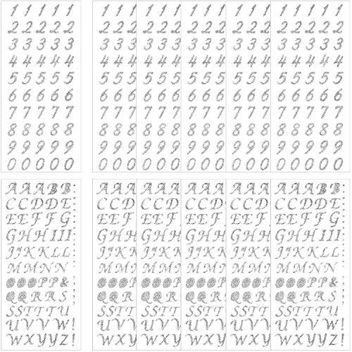 12 Piezas de Pegatinas de Números de Artesanía Pegatinas