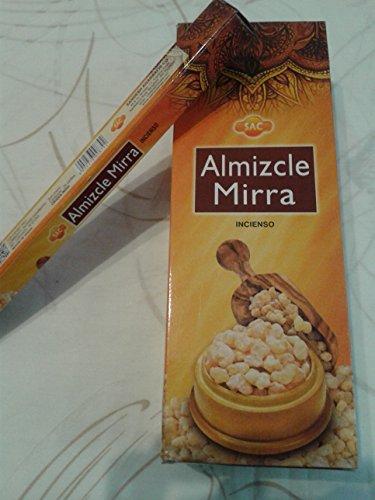 SAC Incienso Almizcle Mirra, 6 Paquetes de 20 Varillas c/u, (Musc Myrrhe)