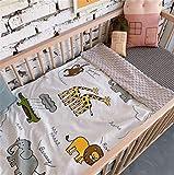 Babydecke Kinderdecke Kuscheldecke Zwei Schichten Fleece Minky Babydecke Baumwolle und