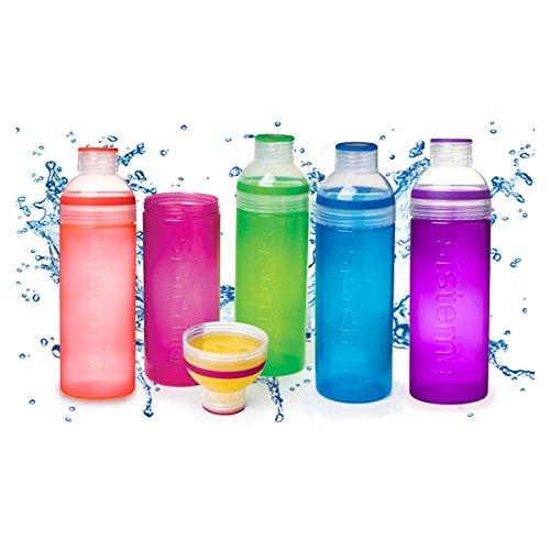 Sistema SI840 Trio Trinkflasche 700ml, Sortiert (Farbe zufällig, 1 Stück)