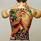 5 Piezas Grande Tatuaje De Espalda Completa Maori Power Tótem Impermeable Tatuaje Temporal Pegatina Guerrero Samurai Ángel Cráneo Hombres Tatuaje Falso Grande