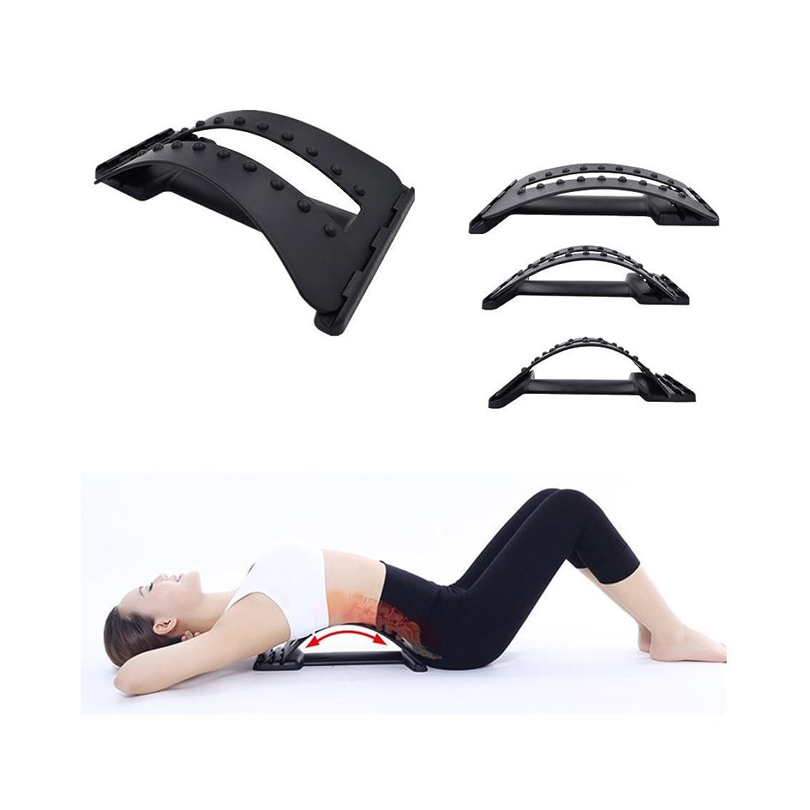 請求書生じる急降下Decdeal フィットネスストレッチ装置 背中マッサージ器 マジック伸縮器 腰椎サポート リラクゼーションメイト カイロプラクター