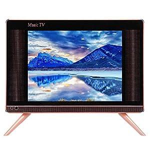 Garsent Mini Televisores, 19 Pulgadas 16: 9 HD Mini Televisor Portátil Supoort HDMI, USB, VGA, AV con Sonido Bajo Reproductor de Televisión Digital TV para Dormitorio, Cocina, 110-240V.(EU): Amazon.es: Electrónica