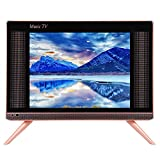 Mini televisor portátil HD de 17 Pulgadas DVB-T2 LCD Smart TV HDMI/USB/VGA, Soporte de Pared HD TV, Monitor de Pantalla Ancha de Alta resolución con Altavoz de Graves Trasero.(UE)