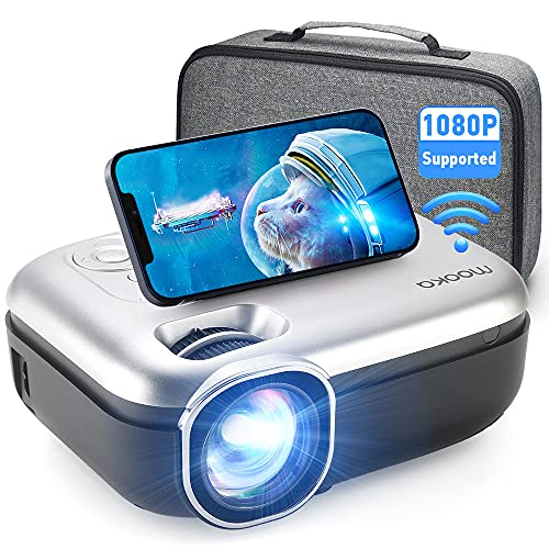 MOOKA WiFi Projector, 1080P Full HD Supported 200'...