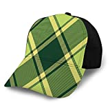Jeffrey Toynbee Gorras Béisbol Gorra Verde Irlanda Plaid Diagonal Seamless Dad Gorras Sombrero Deportivo