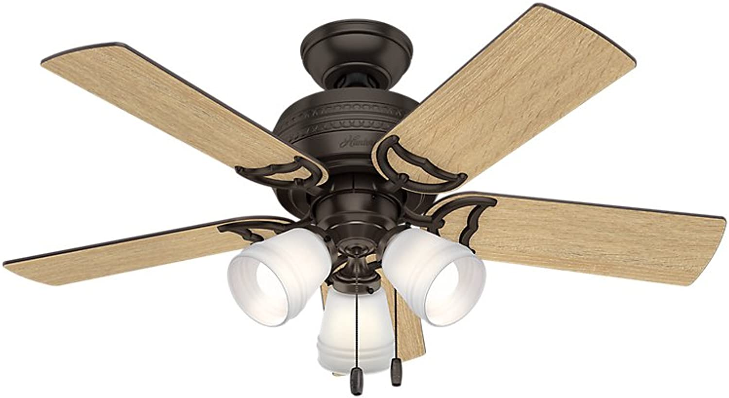 Hunter 51105 Prim Hunter 42  Ceiling Fan with Light, Small, Premier Bronze