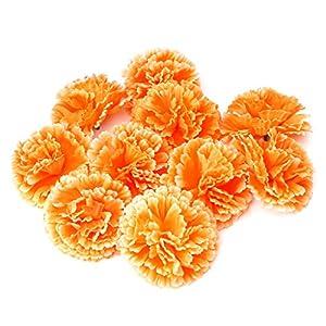 Haptian 10 Piezas de la Flor Falsa Artificial del Clavel para la decoración Nupcial del Banquete de Boda de la Dama de…