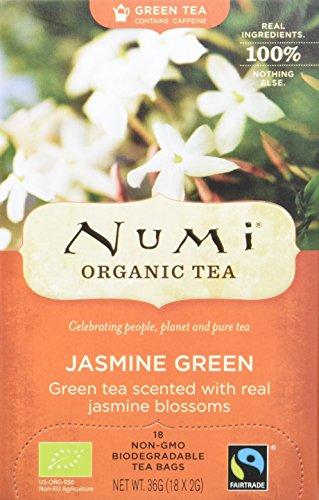 Numi Organic Jasmin Green - Monkey King 18 Beutel, 3er Pack (3 x 36 g) - Bio